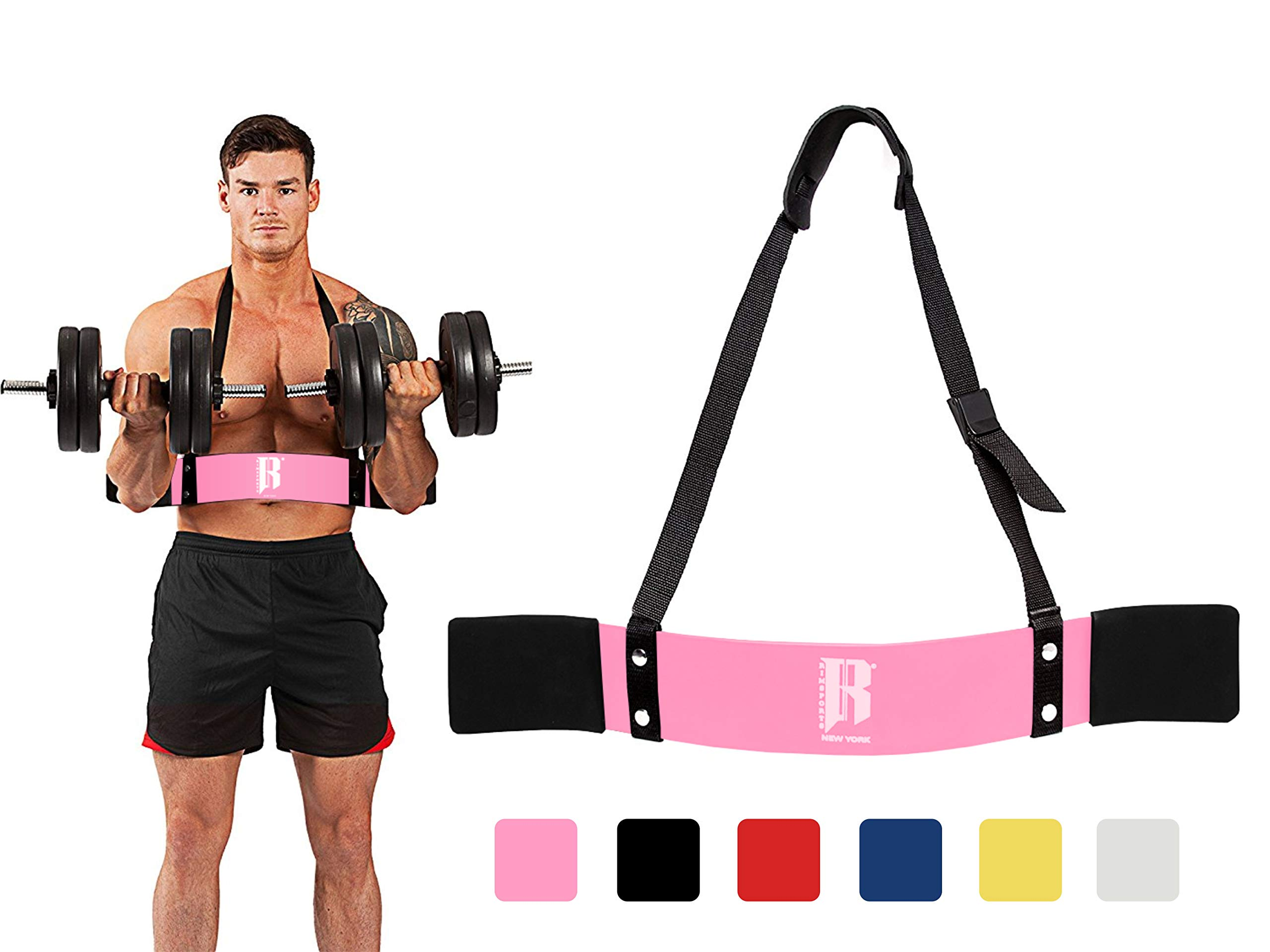 RIMSports Arm Blaster for Biceps Best Muscle Bicep Blaster for Bicep and Tricep Workout Ideal Biceps Isolator & Heavy Duty Elite Muscle Arm Blaster for Bodybuilders & Weightlifters (Pink)