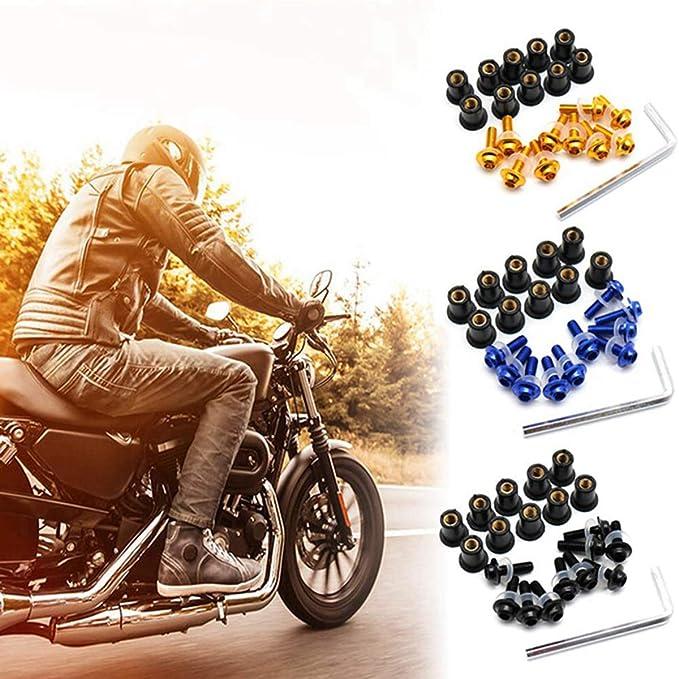 Motobiker 10pcs//Set 5MM Universal Windscreen Bolts Screws Windshield Screw Kit Honda Yamaha Green
