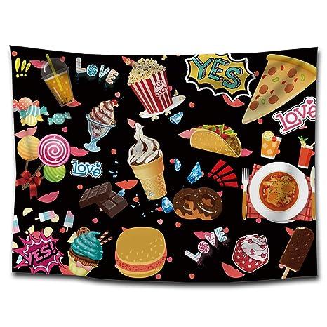 NANIH Home Snacks Helados tapicería de impresión Mantas de ...