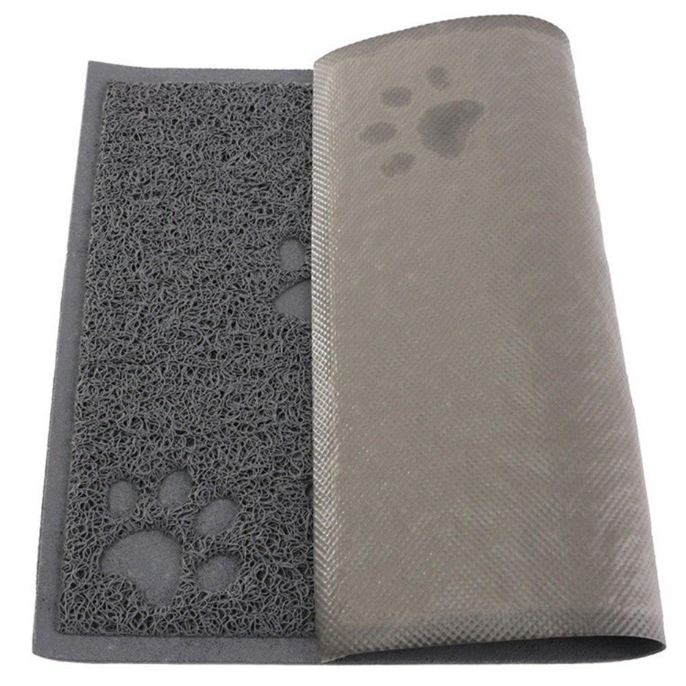 Reefa Tapis pour Bac à Litière/Gamelle/d'alimentation/Maison de Toilette Antiderapant Pour Chat Chaton-30*40cm