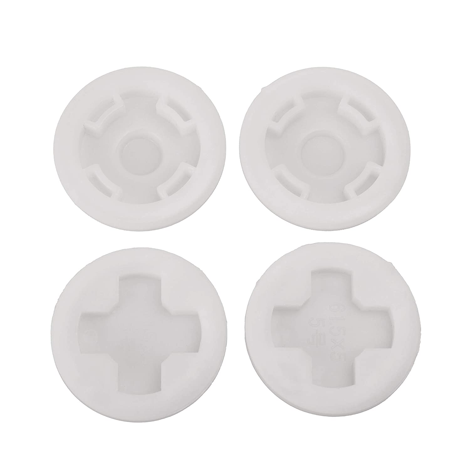 JAYGOP 4 Pack Combo 2 inch Bung Cap with 2 Buttress Coarse and 2 NPT Fine Thread with Gasket for 55 Gallon Plastic Barrel Drum lid