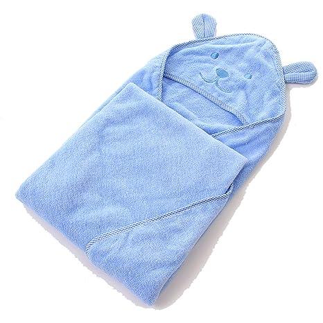 mism bebé con capucha toalla de baño para bebé, color rosa, azul, verde