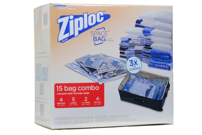 Ziploc スペースバッグ 2XL,5L,4M,4 Travel 895885 B00ME6IVXQ  2XL,5L,4M,4 Travel