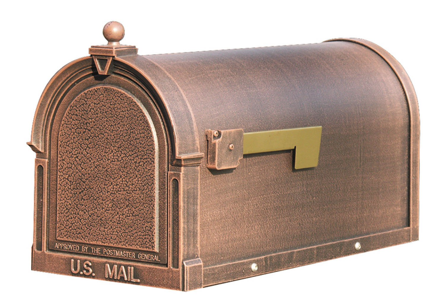 Special Lite Products SCB-1015-CP Berkshire Curbside Mailbox, Copper