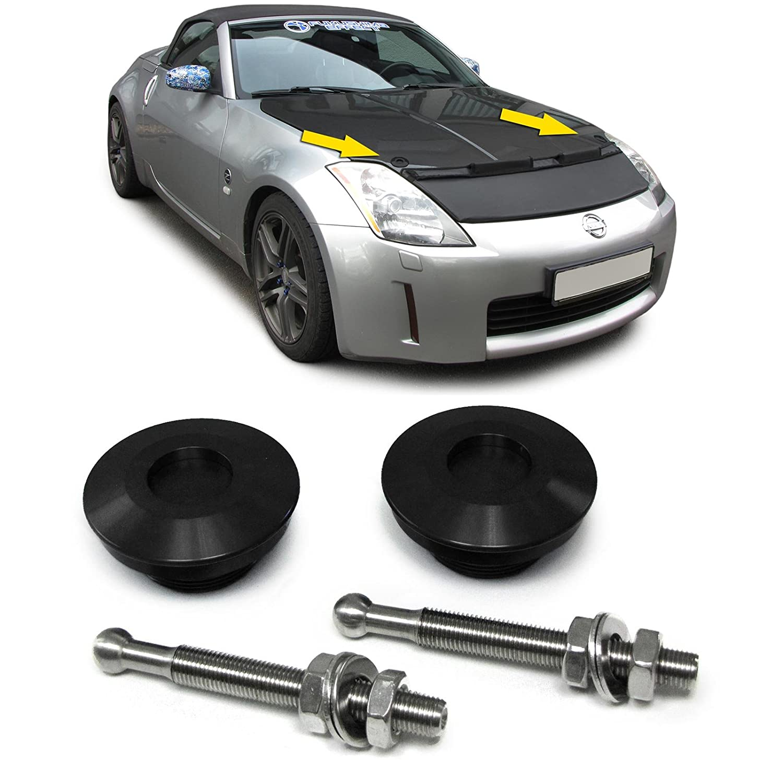 Carparts-Online 27846 Alu Motorhauben Schnellverschluss Verriegelung Rennsport schwarz