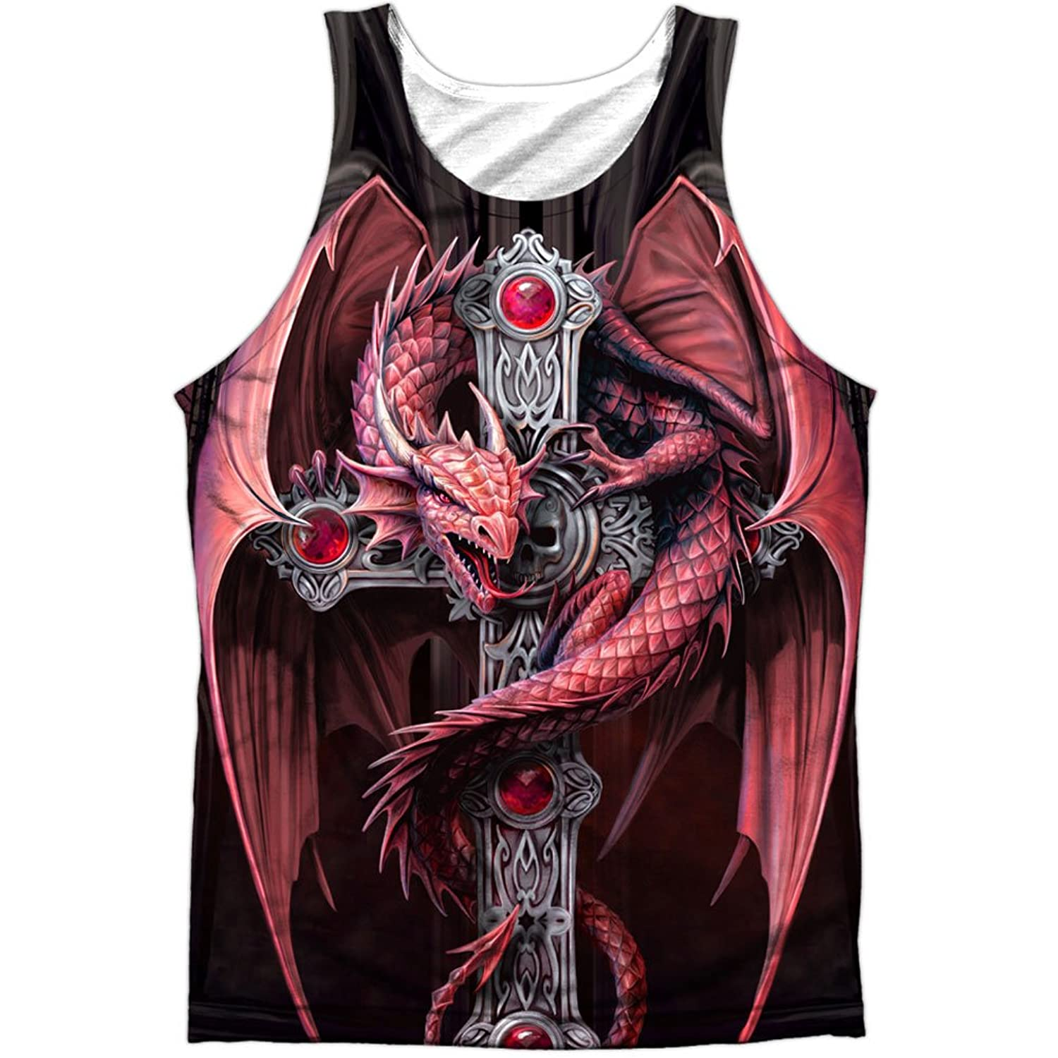Anne Stokes Artist The Gothic Dragon Guardian Front Print Tank Top Shirt