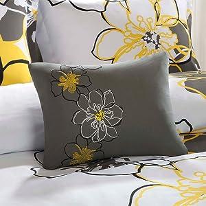 Mizone Allison 3 Piece Comforter Set, Yellow, Twin/Twin X-Large