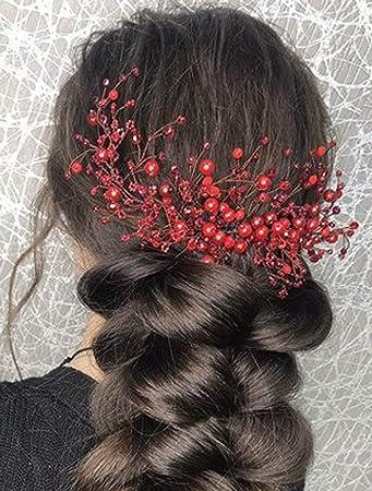 Amazon Com Deniferymakeup Hair Comb Red Hair Vine Bridal Hair
