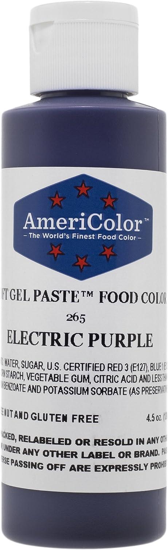 Americolor Soft Gel Paste Electric Food Coloring 4.5 oz. - Electric Purple