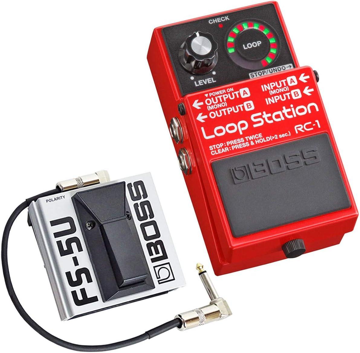 Boss RC-1 - Pedal de trabajo (incluye pulsador de pie FS-5U y cable Keepdrum de 30 cm)