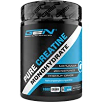Creatina en polvo - 1kg / 1000 g - Monohidrato de creatina puro - Solubilidad óptima - Vegano - Sin aditivos - Polvo…
