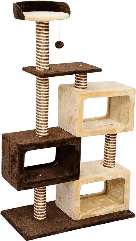 Estación de juegos y rascador para gatos Pawhut, diseño de árbol y ...