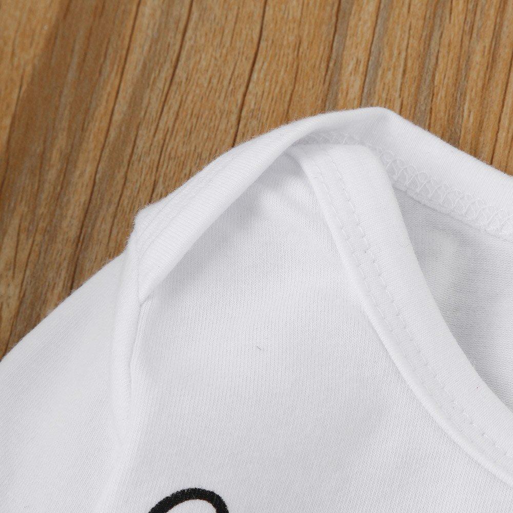 feiXIANG Ropa para beb/és ni/ños Primavera y Verano los ni/ños reci/én Nacidos aman Estampados Tops de Mono Pantalones Traje de Dos Piezas Mono de beb/é Unisex