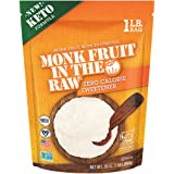 MONK FRUIT IN THE RAW, Keto-Certified Zero Calorie Sweetener with Erythritol, 0 Net Carbs, 16 OZ. Bag (1 Pack)