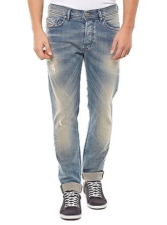 80d46c8a Amazon.com: Diesel Men's Tepphar 0845F Slim Carrot Jeans (Blue/Denim ...