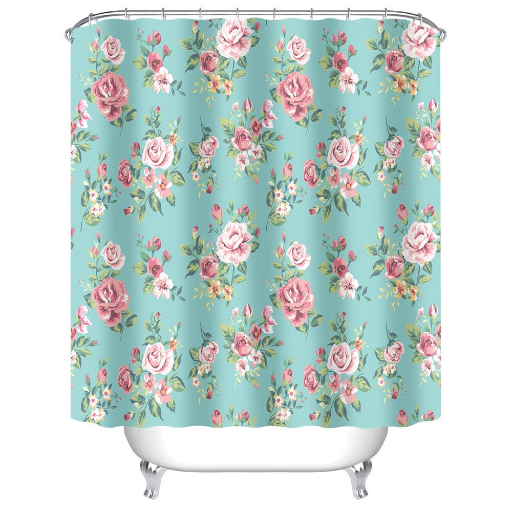 shower magical pin roses pompom pink curtains curtain thinking