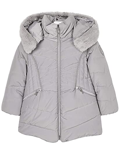 Mayoral 18-04437-077 - Padded Coat for Girls 4 Years Silver