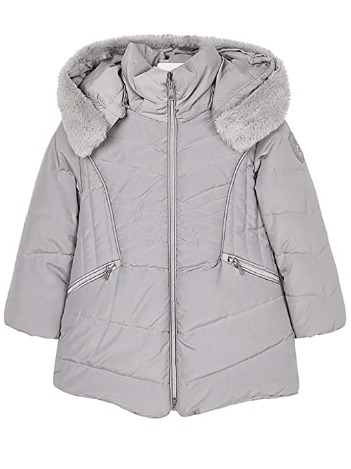 Amazon.com: Mayoral 18-04437-077 - Padded Coat for Girls 4 Years Silver: Clothing