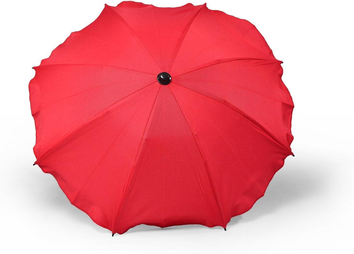 con soporte universal Granate Sombrilla y paraguas universal para carros y sillas de beb/é protecci/ón contra rayos UV 50