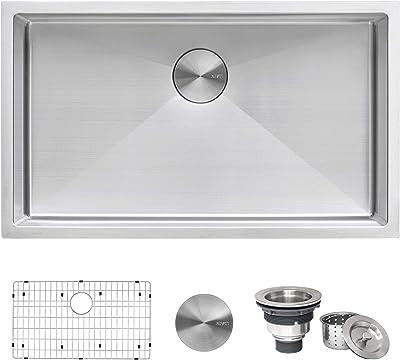 Ruvati 32-inch Undermount 16 Gauge Tight Radius Kitchen Sink Stainless Steel Single Bowl – RVH7400