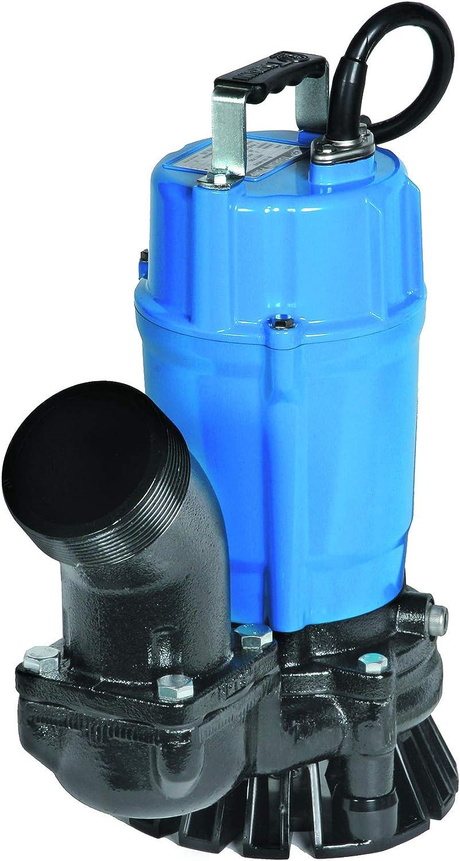 "Tsurumi HS3.75S; semi-Vortex Submersible Trash Pump w/Agitator, 1hp, 115V, 3"" Discharge"