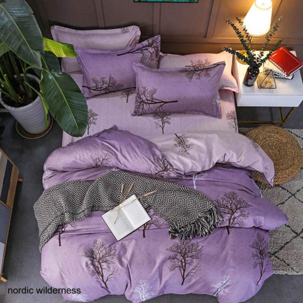 zhj888 Bedding Set Geometric Pattern Sheets Children's Dormitory Bed Lining Cartoon 3 / 4pcs Pillowcase