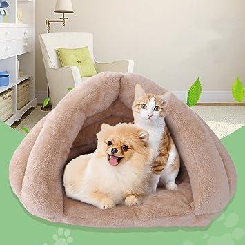 KTYX Gato Camada Gato Saco De Dormir Yurta Mascota Nido Cachorro Perrera Gato Casa Gato Estera Cálido Cama para Mascotas (Tamaño : Metro): Amazon.es: ...