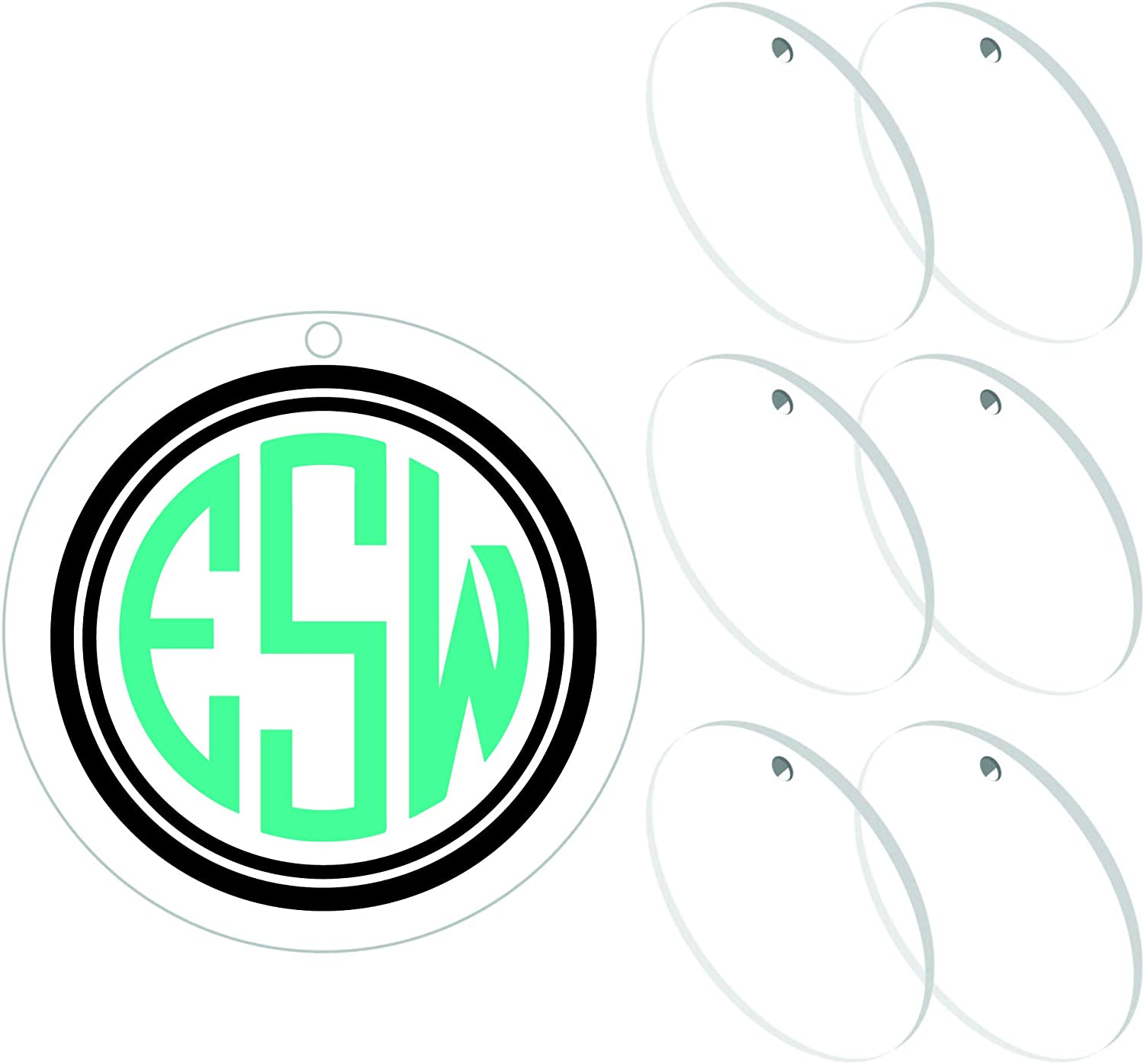 !RAKRISA 25 Pcs 2 Inch Diameter Round Acrylic Clear Keychain Blanks | 1/8 Inch Thick (3mm) Durable, Water Resistant and Smooth Edges | Perfect for DIY Projects and Crafts (25, 2 Inch) 71JhCYmLgKL