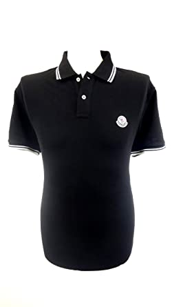 Dauerhafter Service große Auswahl erstklassig Moncler Piqué-Poloshirt, Schwarz-Weiss, Größe XXL: Amazon.de ...