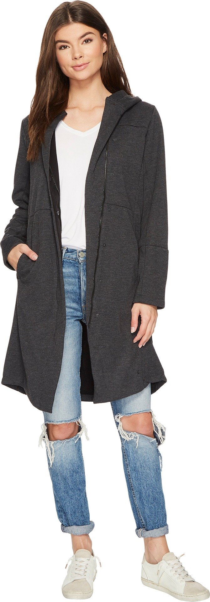 Hurley Women's Therma Winchester Trench Coat Black Heather X-Small