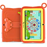 YUNTAB Q88R 7 inch Kids Android Tablet, iWawa Kids Software Pre-Installed, with Premium Parent Control, Quad Core CPU, 8 GB ROM, WiFi, Bluetooth, Dual Camera, Protecting Silicone Case