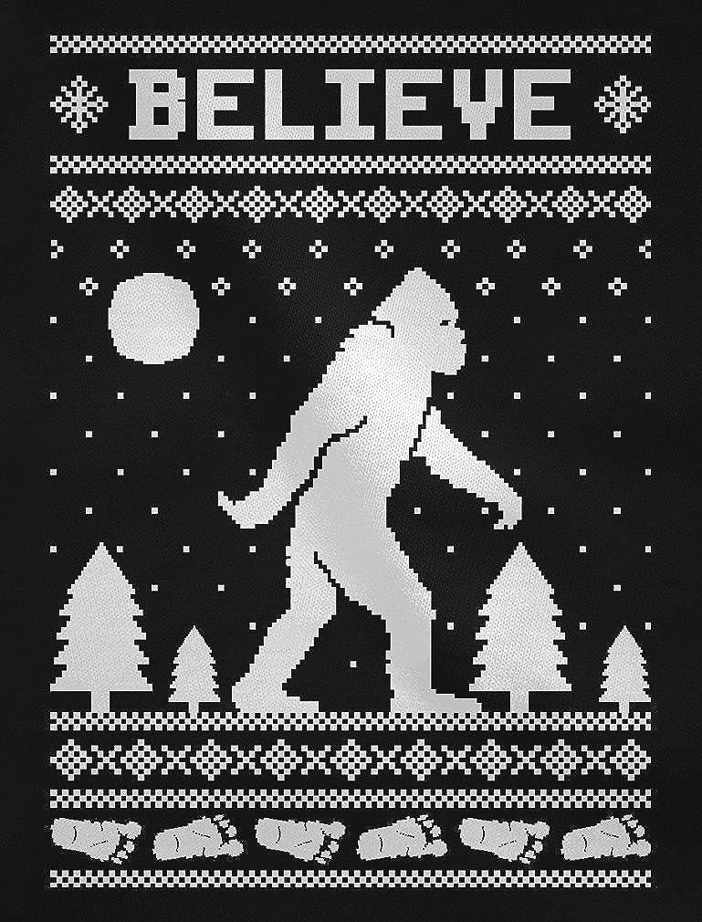 Tstars Bigfoot I Believe Sasquatch Xmas Ugly Christmas Toddler//Kids Sweatshirts