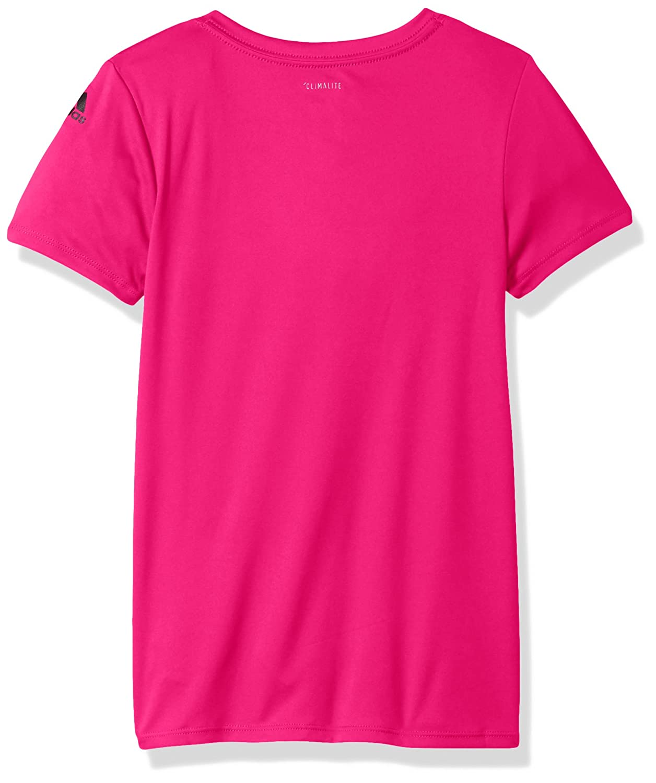 adidas Girls Big V-Neck Performance T-Shirt