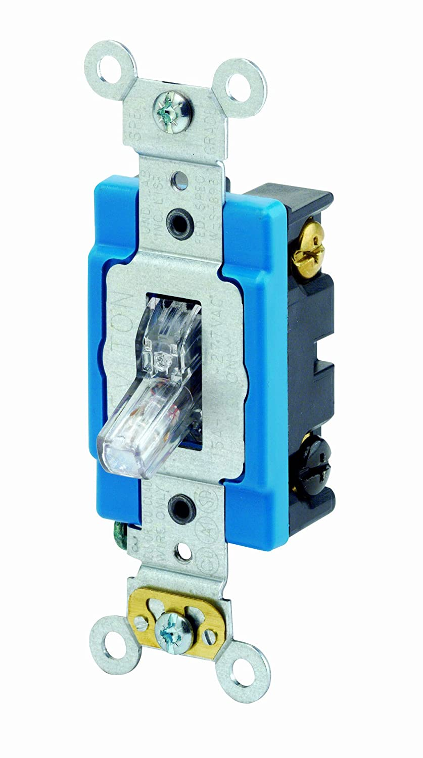 Leviton 1201 plc 15 amp 120 volt toggle pilot light illuminated leviton 1201 plc 15 amp 120 volt toggle pilot light illuminated on req neutral single pole ac quiet switch industrial grade self grounding swarovskicordoba Choice Image