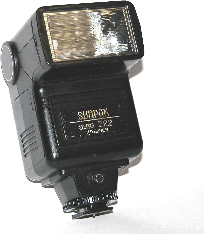 SunPak Auto 222 Thyristor Shoe Mount Flash for Film SLR Camera