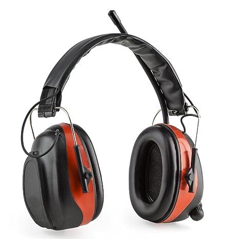 Auna Jackhammer BT Cascos protectores anti ruido (reproductor bluetooth, radio FM, entrada AUX