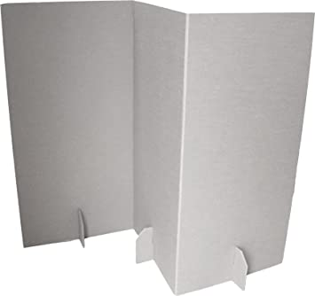 Paperpod Room Divider Cardboard White 2 Piece Amazoncouk