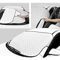 Couverture pare-brise voiture, Protection magnétique pour pare-brise de voiture, neige Sun les rayons UV Ice Winter Shield Météo Repliable (147 x 100cm)