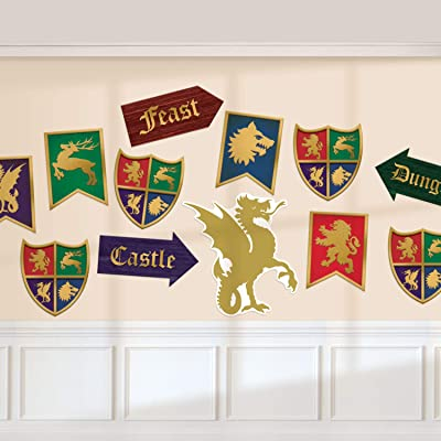 Amscan International Amscan 190707 Decoration Card Cut-Outs 12 Pack Medieval: Toys & Games