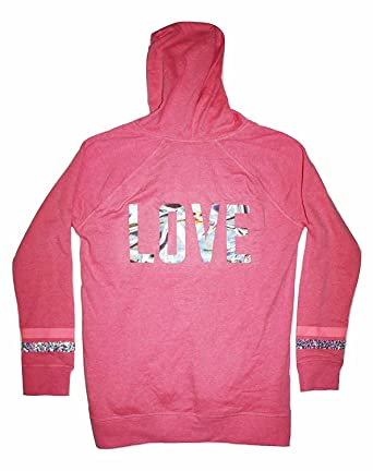 Victoria's Secret Fleece Pullover Hoodie LOVE Pink at Amazon ...