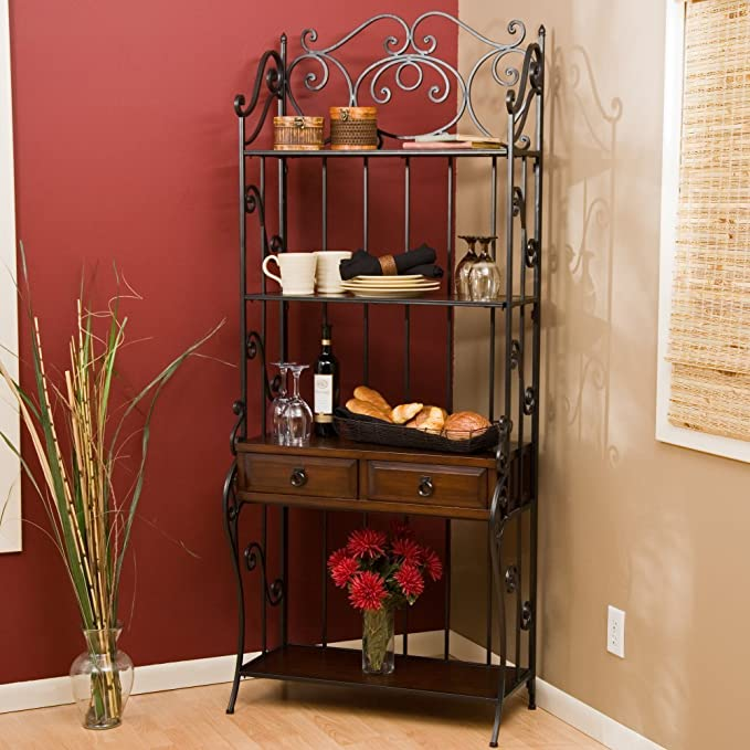 Belham Living Classic Scroll Bakers Rack