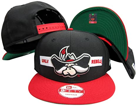 63adb333773 Image Unavailable. Image not available for. Color  UNLV Runnin Rebels Black Red  Two Tone Adjustable Snapback Hat ...