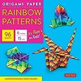 Origami Paper: Rainbow Patterns