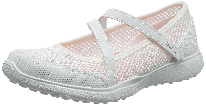 Skechers Microburst, Merceditas para Mujer 36 EU|Blanco (White)