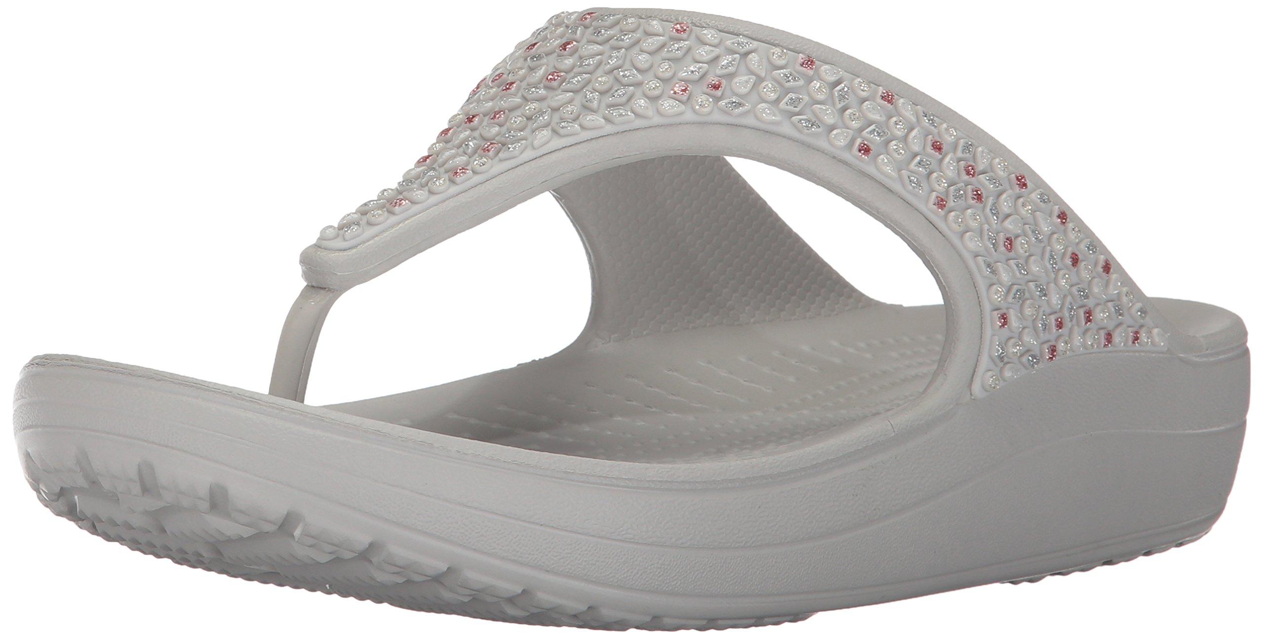 7965d5a3a1e9 Galleon - Crocs Women s Sloane Embellished Flip Flop