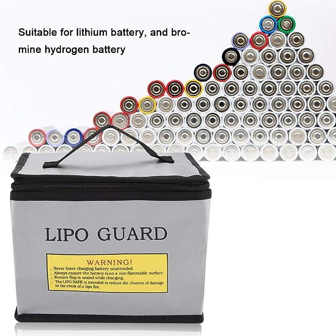 Lipo Safe Bag Feuerfeste Explosionsgeschützte Lipo Batterie Lagerung Und Aufladen Schutzhülle Tasche Durable Portable Doppelreißverschlüsse Sicherheit Storage Guard Baumarkt