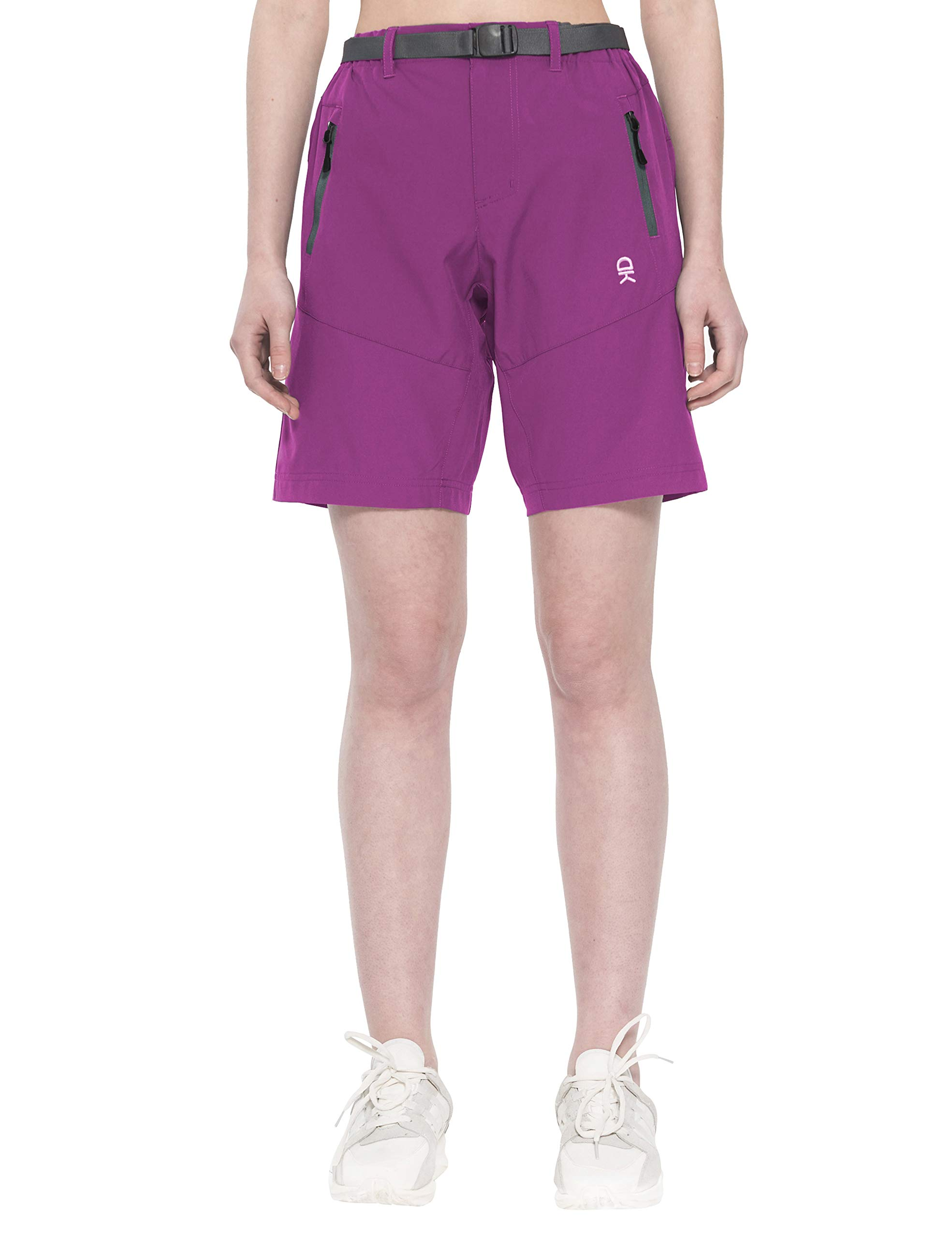 Little Donkey Andy Women's Stretch Quick Dry Cargo Shorts for Hiking, Camping, Travel Purple Size S by Little Donkey Andy