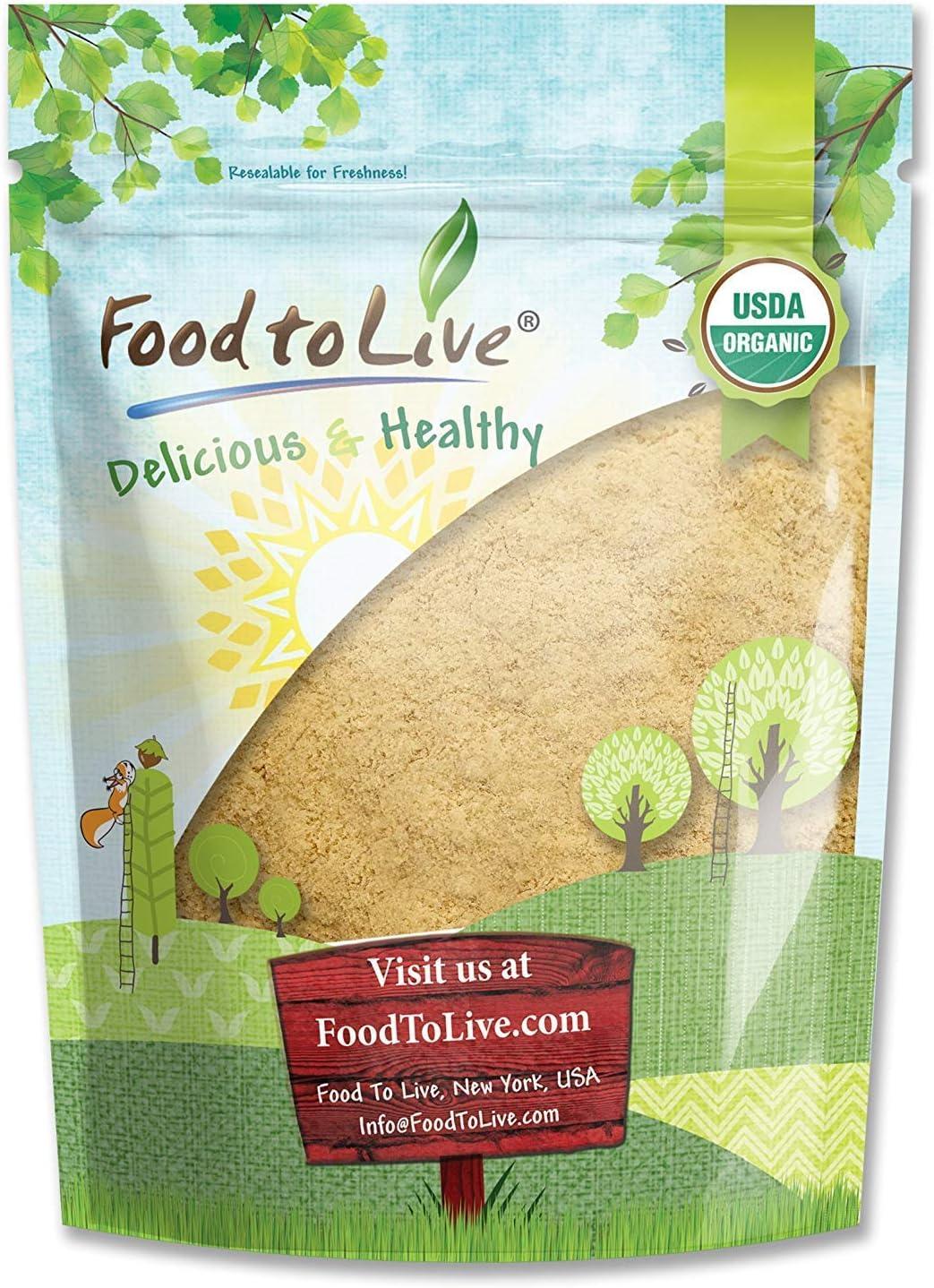 Organic Yellow Maca Powder, 1 Pound - Non-GMO, Kosher, Raw Ground Maca Root, Vegan, Flour, Bulk