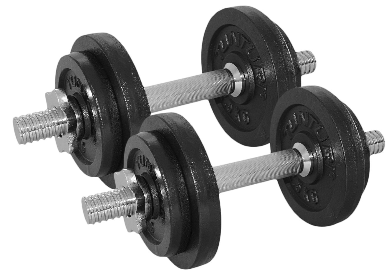 Tunturi Weight Set Mancuernas con 2 Barras Ajustables, Unisex ...