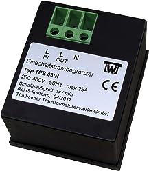 maximal 16 Amp einphasig TTW TEB 116 Einschaltstrombegrenzer Hutschienenbefestigung